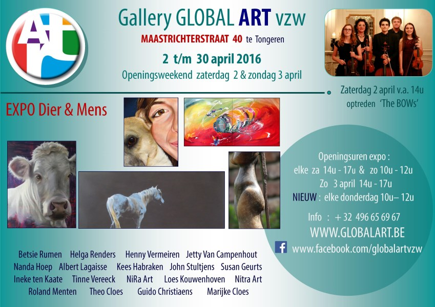 Affiche Global Art vzw expo animals